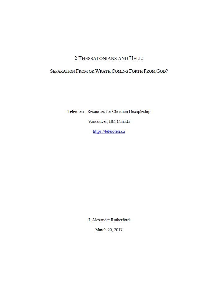 2 Thessalonians and Hell Cover